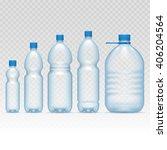 plastic bottles set | Shutterstock .eps vector #406204564