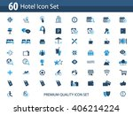 hotel icon set   hotel... | Shutterstock .eps vector #406214224