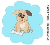 cartoon illustration of a puppy ... | Shutterstock . vector #406215259