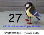Small photo of 27th birthday - a little bird told me