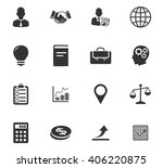 business icons set and symbols...   Shutterstock .eps vector #406220875