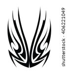 tribal tattoo art | Shutterstock .eps vector #406221049