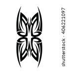 tribal tattoo art | Shutterstock .eps vector #406221097