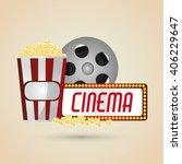cinema graphic design  vector... | Shutterstock .eps vector #406229647
