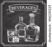 graphic of sketch beverages  ...   Shutterstock .eps vector #406230229