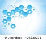 medical background | Shutterstock .eps vector #406230271