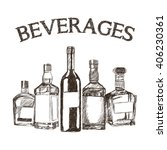 graphic of sketch beverages  ... | Shutterstock .eps vector #406230361