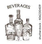 graphic of sketch beverages  ...   Shutterstock .eps vector #406230409