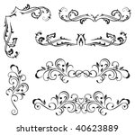 ornate elements for decor ... | Shutterstock . vector #40623889