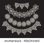neck decoration  necklace ... | Shutterstock .eps vector #406241665