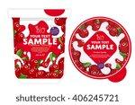 cranberry yogurt package design ... | Shutterstock .eps vector #406245721