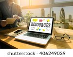 resources thoughtful male... | Shutterstock . vector #406249039