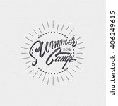 summer camp badge  sticker ... | Shutterstock .eps vector #406249615