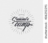 summer camp badge  sticker ... | Shutterstock .eps vector #406252291