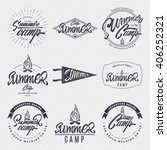 summer camp badge  sticker ... | Shutterstock .eps vector #406252321