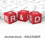 3d dice with word r and d... | Shutterstock . vector #406256809