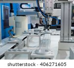 industrial robot working in... | Shutterstock . vector #406271605