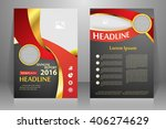 abstract vector modern flyers...   Shutterstock .eps vector #406274629