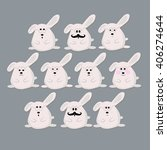 bunnies wearing glasses with... | Shutterstock .eps vector #406274644