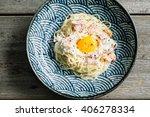 Spaghetti Carbonara With Egg...