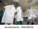 surgeons team at work   Shutterstock . vector #40628506