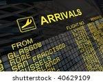 international arrivals board... | Shutterstock . vector #40629109