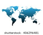 world map countries colorful.... | Shutterstock .eps vector #406296481