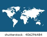 world map countries colorful.... | Shutterstock .eps vector #406296484