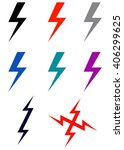 lightning bolt icon | Shutterstock .eps vector #406299625