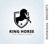 Stock vector king horse logo template 406310071