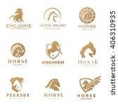Stock vector horse logo collection horse logo set logo set animal logo set vector logo template 406310935