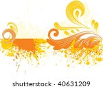 dirty spot background with... | Shutterstock .eps vector #40631209
