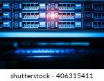 storage servers in data room... | Shutterstock . vector #406315411