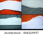set of ragged edge of the paper ... | Shutterstock . vector #406324957