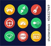 driving school icons flat... | Shutterstock .eps vector #406327969