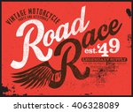 racer t shirt graphic | Shutterstock .eps vector #406328089