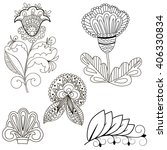 set of floral elements for... | Shutterstock .eps vector #406330834
