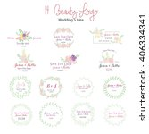 save the date  vector set. | Shutterstock .eps vector #406334341