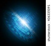 digital code technology... | Shutterstock .eps vector #406335091