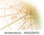 intricate red  orange and green ... | Shutterstock . vector #406338451