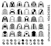 jockey uniform   jackets  silks ... | Shutterstock .eps vector #406343881