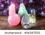 fluorite also called fluorspar... | Shutterstock . vector #406347031