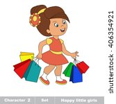 raster copy. one cartoon baby... | Shutterstock . vector #406354921
