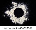 white powder circle background | Shutterstock . vector #406357501