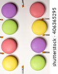 cosmetic bright macaroons lying ... | Shutterstock . vector #406365295