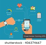 fitness tracker app graphic... | Shutterstock .eps vector #406374667