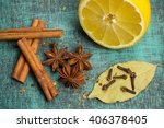 spices and herbs.  food ... | Shutterstock . vector #406378405