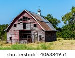 Old Abandoned  Barn In A Large...