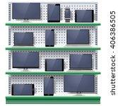 vector shelves with modern... | Shutterstock .eps vector #406386505