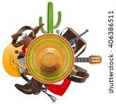 Vector Cowboy Concept With...